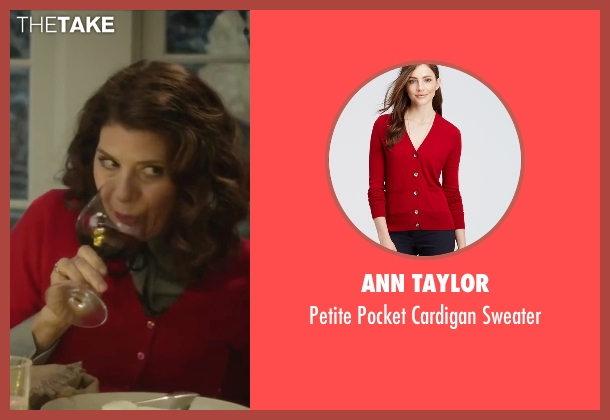 Ann Taylor red sweater from Love the Coopers seen with Marisa Tomei (Emma)