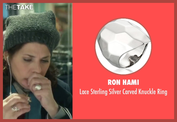 Ron Hami silver ring from Love the Coopers seen with Marisa Tomei (Emma)