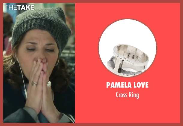 Pamela Love silver ring from Love the Coopers seen with Marisa Tomei (Emma)