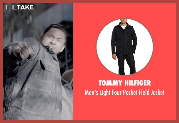 Tommy Hilfiger black jacket from A Walk Among The Tombstones seen with Mark Consuelos (Reuben)