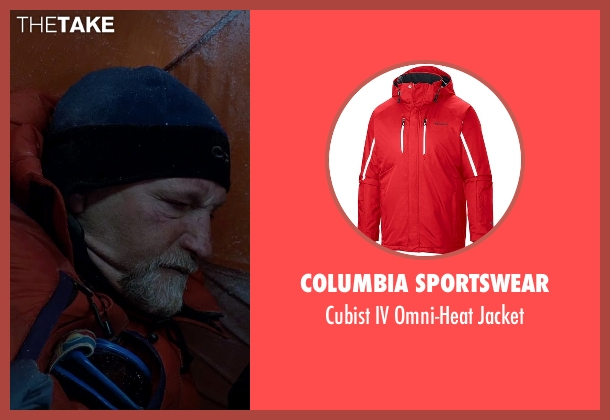 Columbia Sportswear red jacket from Everest seen with Mark Derwin (Lou Kasischke)