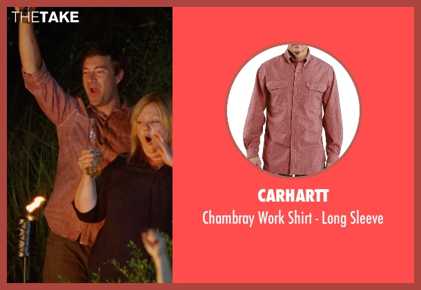 Carhartt red sleeve from Tammy seen with Mark Duplass (Keith)