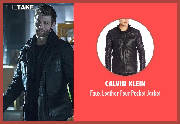 Calvin Klein black jacket from The Flash seen with Mark Mardon (Liam McIntyre)