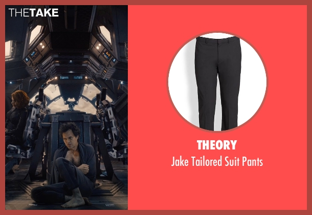 Theory black pants from Avengers: Age of Ultron seen with Mark Ruffalo (Bruce Banner / The Hulk)