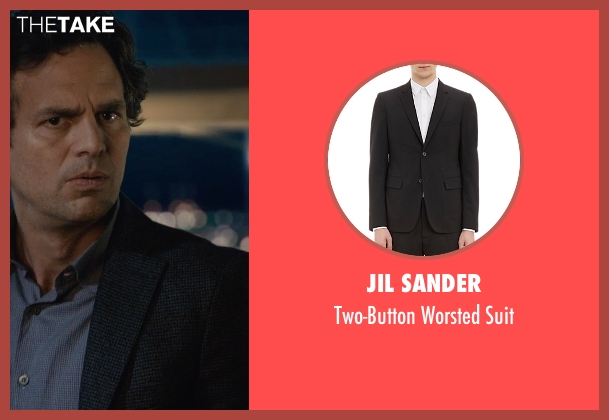 Jil Sander black suit from Avengers: Age of Ultron seen with Mark Ruffalo (Bruce Banner / The Hulk)