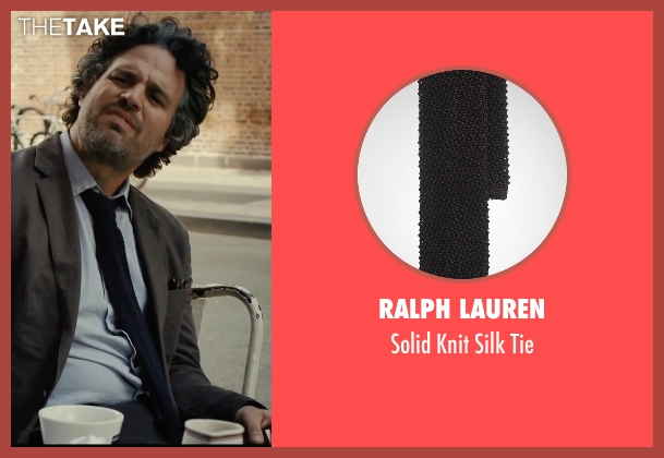 Ralph Lauren black tie from Begin Again seen with Mark Ruffalo (Dan)