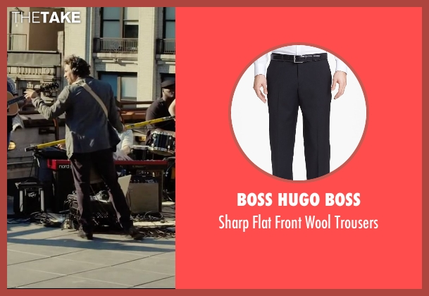 Boss Hugo Boss black trousers from Begin Again seen with Mark Ruffalo (Dan)