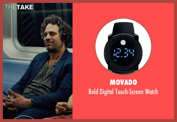 Movado black watch from Begin Again seen with Mark Ruffalo (Dan)