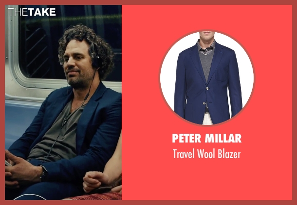 Peter Millar blue blazer from Begin Again seen with Mark Ruffalo (Dan)