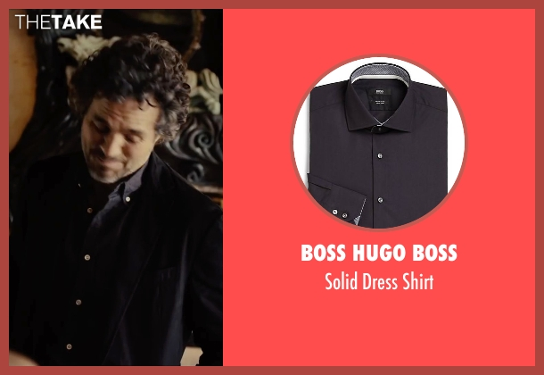 Boss Hugo Boss blue shirt from Begin Again seen with Mark Ruffalo (Dan)