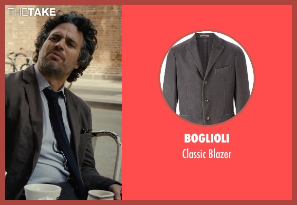 Boglioli gray blazer from Begin Again seen with Mark Ruffalo (Dan)
