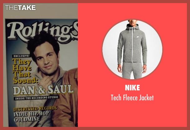 Nike gray jacket from Begin Again seen with Mark Ruffalo (Dan)
