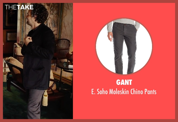 Gant gray pants from Begin Again seen with Mark Ruffalo (Dan)