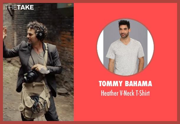 Tommy Bahama gray t-shirt from Begin Again seen with Mark Ruffalo (Dan)
