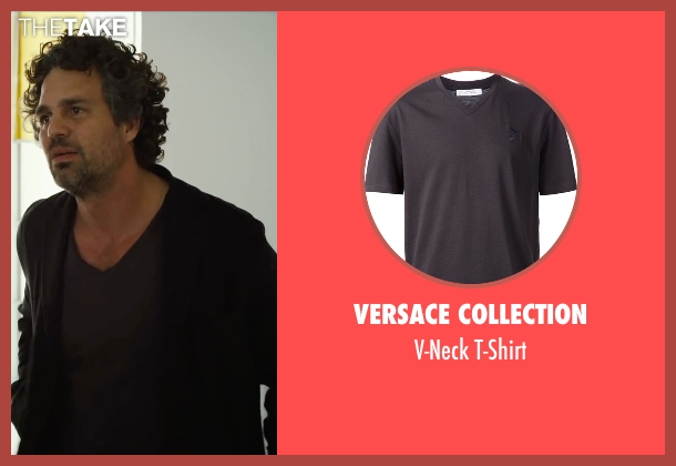 Versace Collection gray t-shirt from Begin Again seen with Mark Ruffalo (Dan)