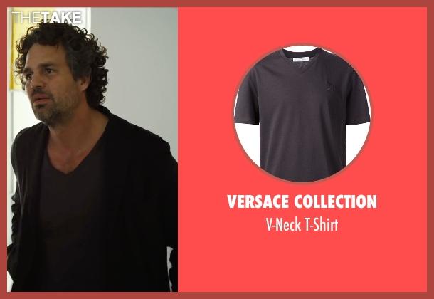 Versace Collection gray t-shirt from Begin Again seen with Mark Ruffalo (Dan)