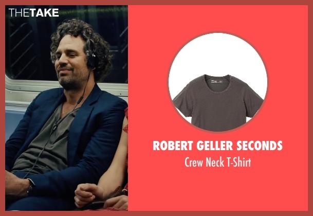 Robert Geller Seconds gray t-shirt from Begin Again seen with Mark Ruffalo (Dan)