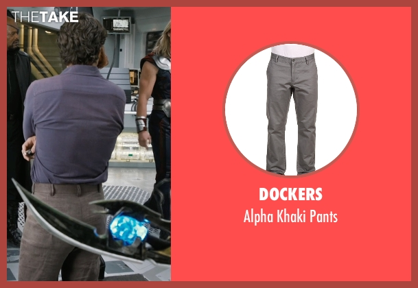 Dockers gray pants from Marvel's The Avengers seen with Mark Ruffalo (Bruce Banner / The Hulk)