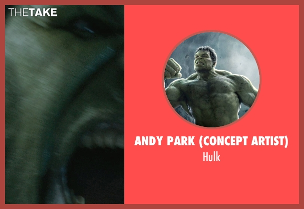 Andy Park (Concept Artist) hulk from Marvel's The Avengers seen with Mark Ruffalo (Bruce Banner / The Hulk)