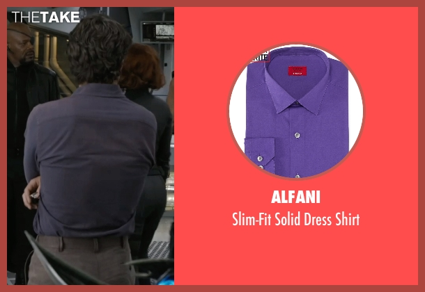 Alfani purple shirt from Marvel's The Avengers seen with Mark Ruffalo (Bruce Banner / The Hulk)