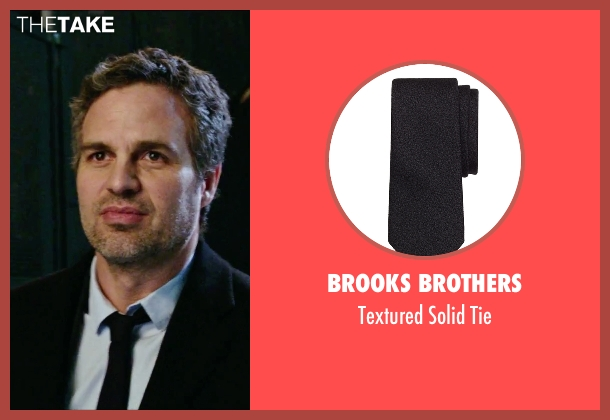 Brooks Brothers black tie from Now You See Me 2 seen with Mark Ruffalo (Dylan Rhodes)
