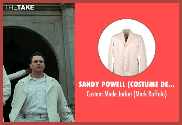 Sandy Powell (Costume Designer) beige jacket from Shutter Island seen with Mark Ruffalo (Chuck Aule)
