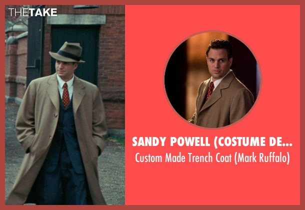 Sandy Powell (Costume Designer) brown coat from Shutter Island seen with Mark Ruffalo (Chuck Aule)