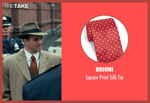 Brioni red tie from Shutter Island seen with Mark Ruffalo (Chuck Aule)
