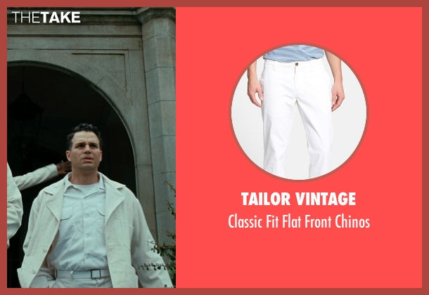 Tailor Vintage white chinos from Shutter Island seen with Mark Ruffalo (Chuck Aule)