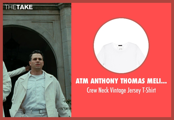ATM Anthony Thomas Melillo white t-shirt from Shutter Island seen with Mark Ruffalo (Chuck Aule)