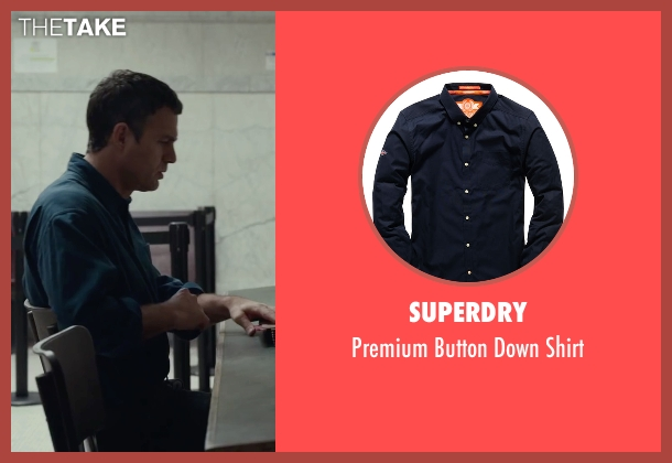 Superdry blue shirt from Spotlight seen with Mark Ruffalo (Mike Rezendes)