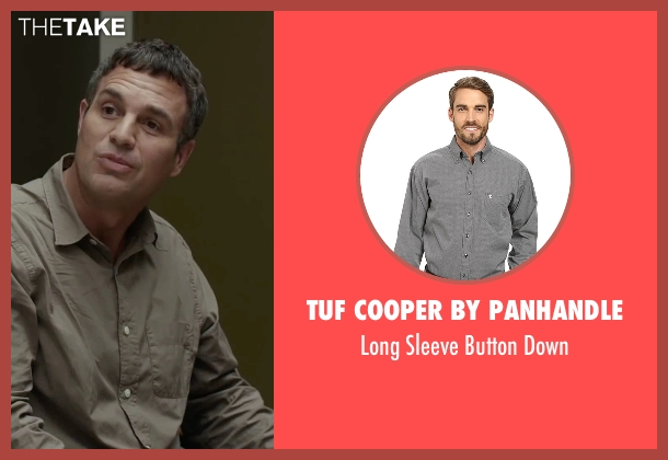 Tuf Cooper by Panhandle gray down from Spotlight seen with Mark Ruffalo (Mike Rezendes)