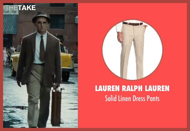 Lauren Ralph Lauren beige pants from Bridge of Spies seen with Mark Rylance (Rudolf Abel)