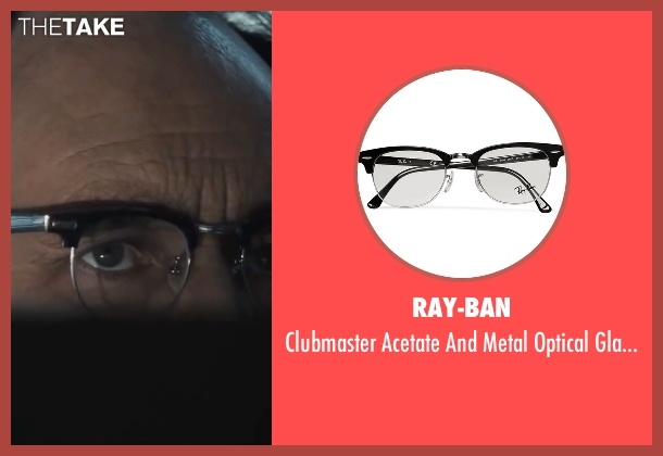 ray ban clubmaster acetate and  ray ban black glasses from bridge of spies seen with mark rylance (rudolf abel clubmaster acetate and metal optical