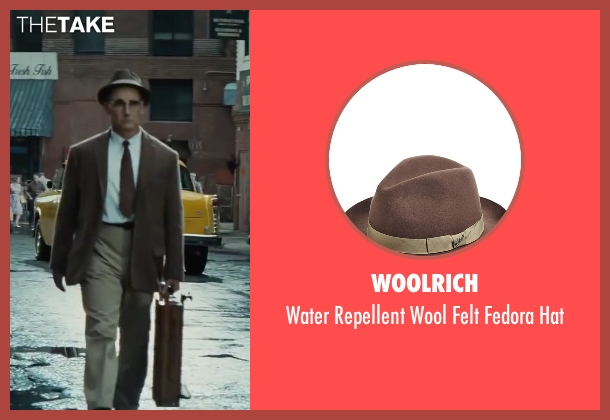 Woolrich brown hat from Bridge of Spies seen with Mark Rylance (Rudolf Abel)