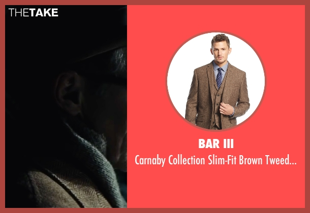 Bar III brown jacket from Bridge of Spies seen with Mark Rylance (Rudolf Abel)