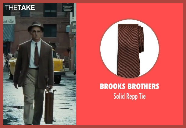 Brooks Brothers brown tie from Bridge of Spies seen with Mark Rylance (Rudolf Abel)