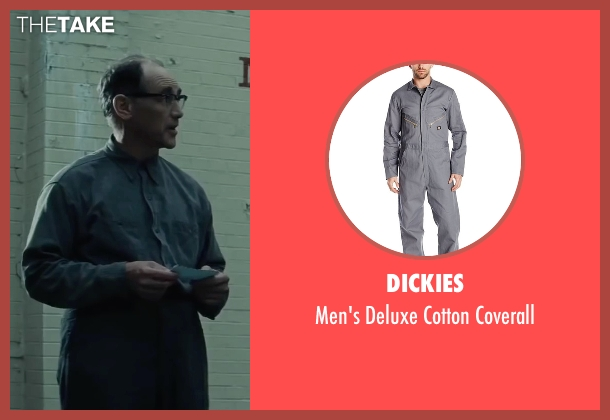 Dickies gray coverall from Bridge of Spies seen with Mark Rylance (Rudolf Abel)