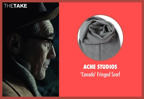Acne Studios gray scarf from Bridge of Spies seen with Mark Rylance (Rudolf Abel)