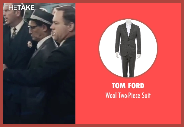 Tom Ford gray suit from Bridge of Spies seen with Mark Rylance (Rudolf Abel)
