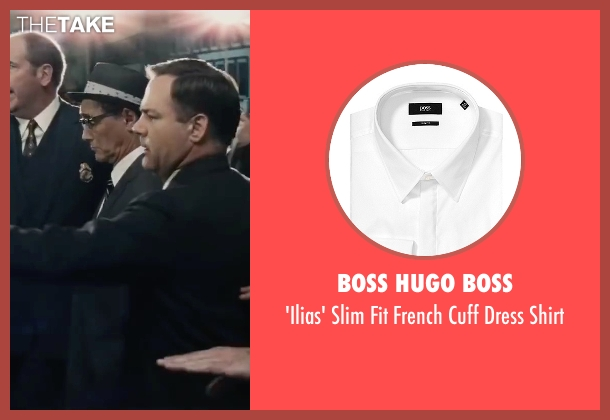 Boss Hugo Boss white shirt from Bridge of Spies seen with Mark Rylance (Rudolf Abel)