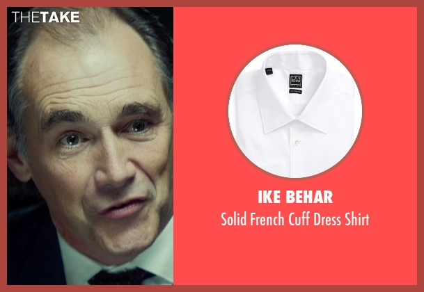 Ike Behar white shirt from The Gunman seen with Mark Rylance (Cox)