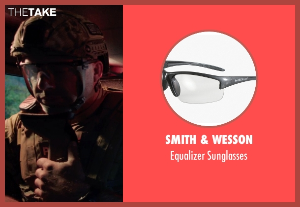 Smith & Wesson sunglasses from Sabotage seen with Mark Schlegel ('Smoke' Jennings)