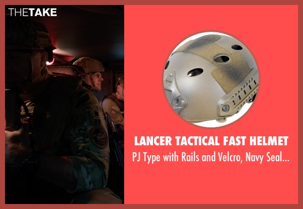Lancer Tactical FAST Helmet tan from Sabotage seen with Mark Schlegel ('Smoke' Jennings)