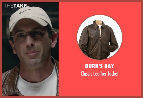 Burk's Bay brown jacket from Straight Outta Compton seen with Mark Sherman (Jimmy Iovine)