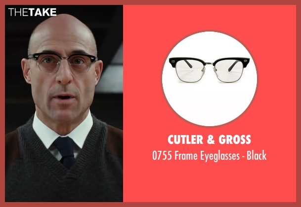 Cutler & Gross black black from Kingsman: The Secret Service seen with Mark Strong (Merlin)