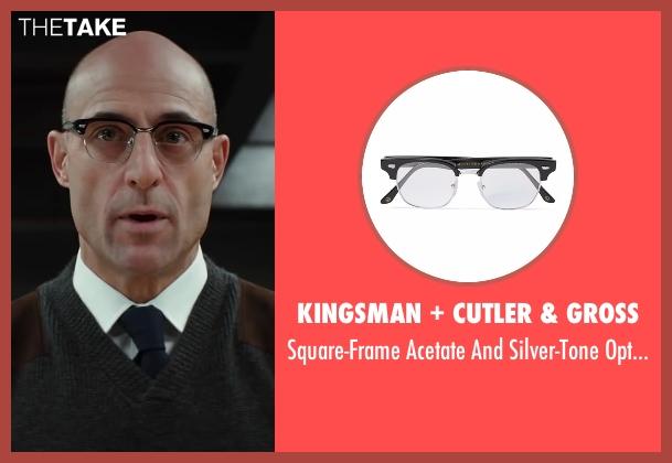 Kingsman + Cutler & Gross black glasses from Kingsman: The Secret Service seen with Mark Strong (Merlin)