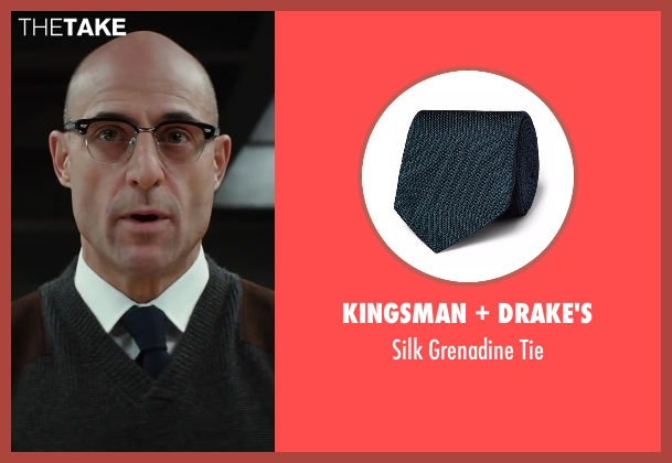 Drake's blue tie from Kingsman: The Secret Service seen with Mark Strong (Merlin)
