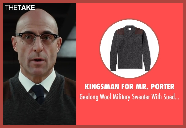 Kingsman for Mr. Porter gray patches from Kingsman: The Secret Service seen with Mark Strong (Merlin)