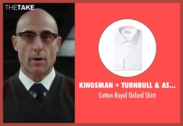 Ermenegildo Zegna white shirt from Kingsman: The Secret Service seen with Mark Strong (Merlin)